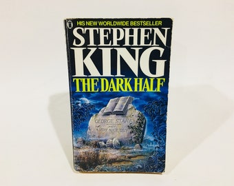 Vintage Horror Book The Dark Half by Stephen King 1990 UK Edition Paperback