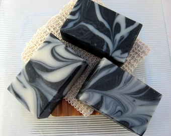 Organic Charcoal Soap, Activated Charcoal and Tea Tree Vegan-Cold Process Soap