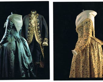 3 Costume History Postcards , 18th Century Fashion , The Netherlands , Holland , Europe
