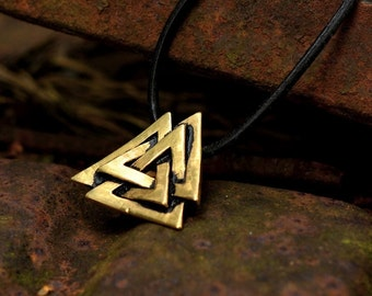 Valknut Pendant / Odin 's knot from the Viking era - [0 Walknut/G1 C-5]