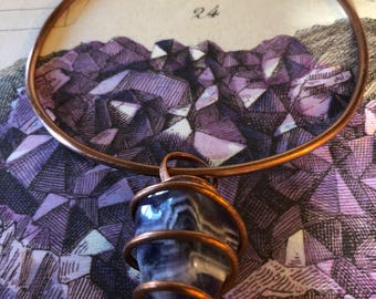 Simply Wrapped Copper and Amethyst Breather