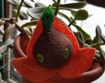 Small Orange Seedy Guy (Embroidered)