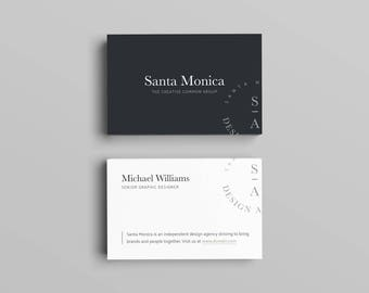 Santa Monica Business Card Template