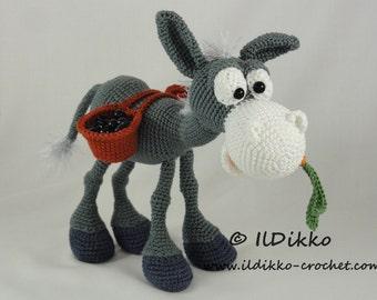 Amigurumi Crochet Pattern - Dusty the Donkey- English Version