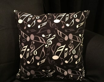 Music Note Pillow Cover