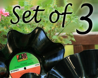 Vinyl Record Bowls. Party decor. New home, Wedding gift. YOU chose GENRES. Storage basket Decor hostess bridesmaids gifts Mod Retro. Music