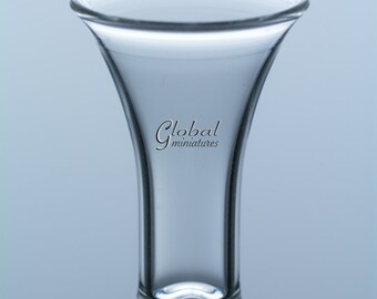 Dollhouse Miniatures Glassware Glass Art Wide-Mouthed Cylindrical-Shaped Vase