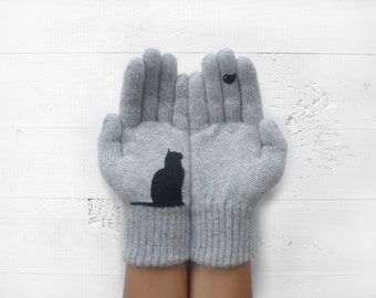 Pet Gift, Cat Gloves, Pet Lover Gift, Women Gloves, Winter Gloves, Cat Gift, Gift For Her, Cat Lover Gift, Mother's Day Gift, Gift For Mom