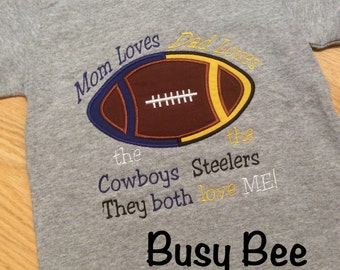Appliqued House Divided Football Shirt