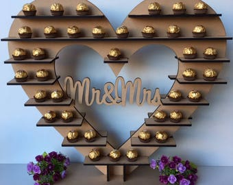 Personalised Chocolate or Mini Cupcake stand Lasercut wooden display stand