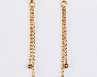Gold Kindle Pearl Earrings