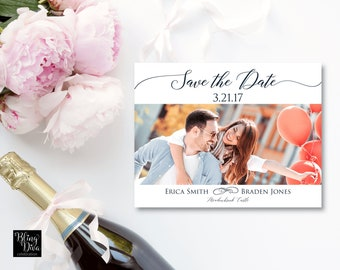 Two Become One Save the Date Custom Printable
