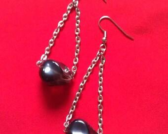 Drop of Night Earrings