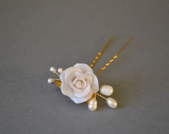 Flower bridal accessoire, bridal pin, flower pin