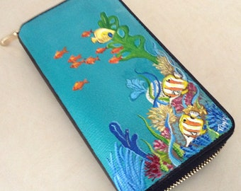 Painted sea theme  wallet
