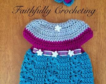 Newborn Sundress... Matching headband.. Ready to ship