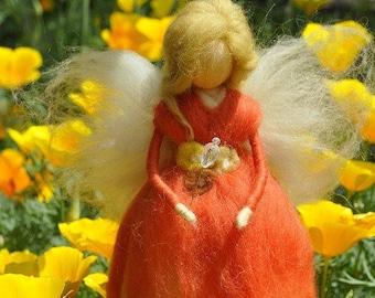 Wool Needle felted fairy Waldorf fairy Felted Doll Waldorf Inspired Ecofriendly Nursery Decor