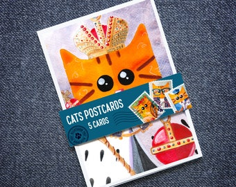 Cats in costumes Postcards (A6) - Set of 5 – ALLCATSGOOD