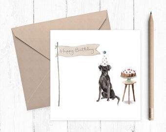 Black Labrador Birthday Card - dog card - Black Labrador card - birthday card - Black Labrador - ideal gift for dog lovers