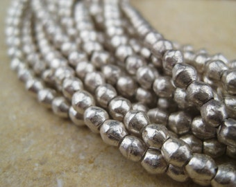 Silver Mini-Bicone Beads From the Villages of Ethiopia! African Metal Beads - Silver Spacers - Wholesale African Beads - Silver Beads 277
