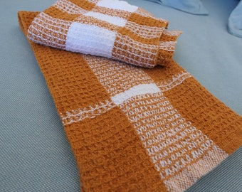 Waffle Weave Dish Towel Set - House Warming Kitchen gift handwoven towels