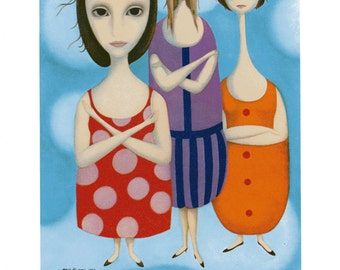 Infalted Egos-Small Print Margaret Keane Lithograph Print 1963