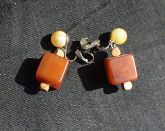Bakelite vintage earrings