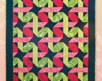 Twisting Ribbons - Quilt Pattern by Black Cat Creations