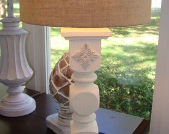 Pink White Gray Ornate Scroll Table Lamps Girl Nursery Girlu0027s Bedroom  French Country Cottage Shabby Jeanne
