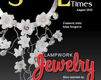 August 2016 Soda Lime Times Lampworking Magazine - Lampwork Jewelry - (PDF) - by Diane Woodall