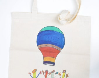 Limited Edition Tote Bag from original mixed media drawing by Amy Allen and Eddie Newson