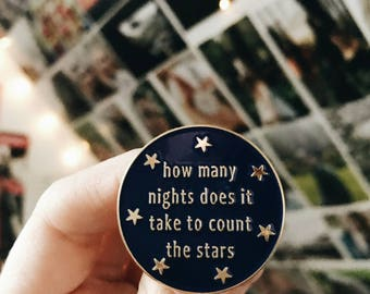 Enamel Pins - Lyrics, Lyric Art, Song Lyric Art, Starry Sky, One Direction, Niall Horan, Harry Styles. Liam Payne, Wedding Gift, Lapel Pin