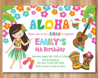 luau birthday invitation hawaiian birthday invitation with
