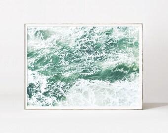 Ocean prints, ocean poster, ocean photography, ocean wall art, sea poster, sea print, ocean photo prints, mint wall decor, scandinavian art