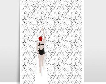 "A3 Artprint ""Swimming points"""