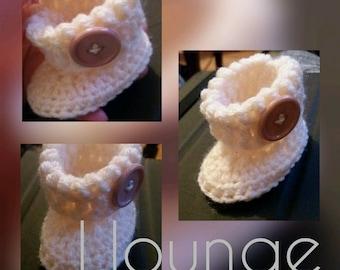 Baby boots crochet pattern