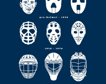 GOALIE MASK EVOLUTION Hockey T-shirt Ice Hockey Goal Tender Tee