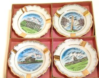 Vintage Souvenir Personal Ashtrays - Washington D C - Boxed Set