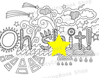 Eat a bag of diks Swear Words Printable Coloring Pages