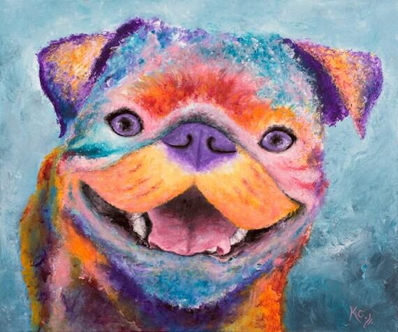 George the Pug Print