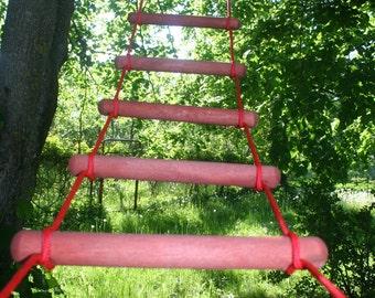 rope ladder, 3.3-33 feet (1-10m) long 0.9 feet (27 cm) wide, long tree house ladder, handmade wooden rope ladder,  tree swing ladder