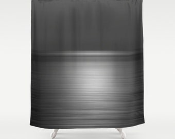 Blue Shower Curtain Deep Blue Sea at Sunset Shower Curtain