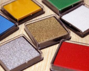 Ink Pad Set -- Ink Pad -- Stamp Pad -- 15 colors in