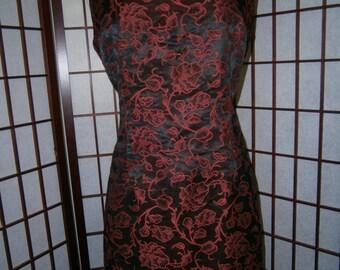 Women's Sleeveless Sheath Brocade Dress