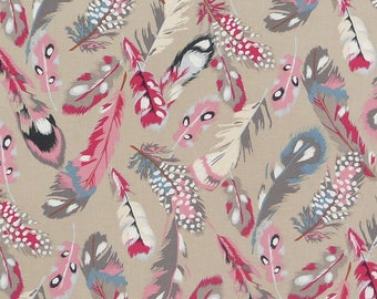 Fabric Gutermann french Cottage feathers