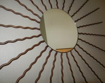 Starburst Mirror - wavy wire