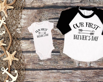 Our First Father's Day;Father's Day Shirt;Matching Daddy and Me Shirt;First Father's Day Outfit;Father's Day Gift