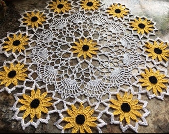 Black Eyed Susan doily