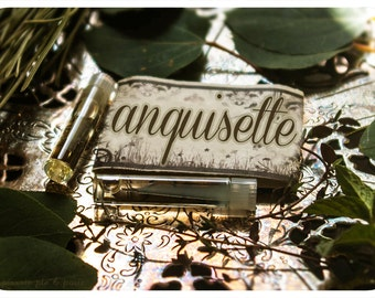 anguisette - natural perfume oil mini sampler twin pack - primary notes: moonflower, orchid, violet & musk