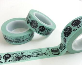 Vintage Style Washi / Masking Tape - 10M